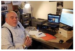 Scott C. with computer